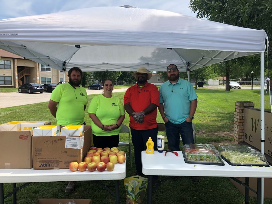 Meridian Waste Partnered with the Wright City Community Food Pantry for Children's Summer Luncheon Series
